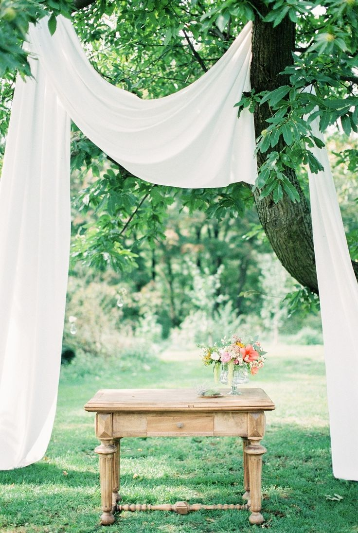 Picture Of whimsical summer wedding with custom silver dress  7