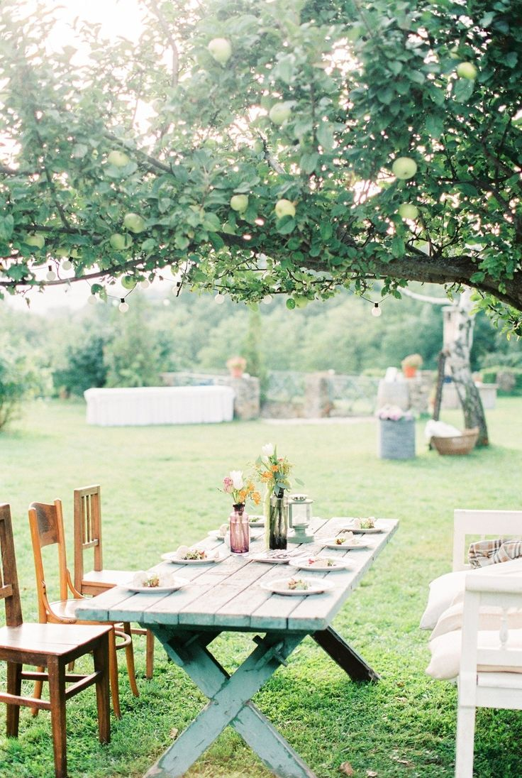 Picture Of whimsical summer wedding with custom silver dress  8