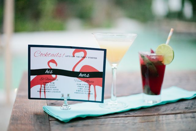 Picture Of whimsy and cheerful flamingo wedding theme ideas  10