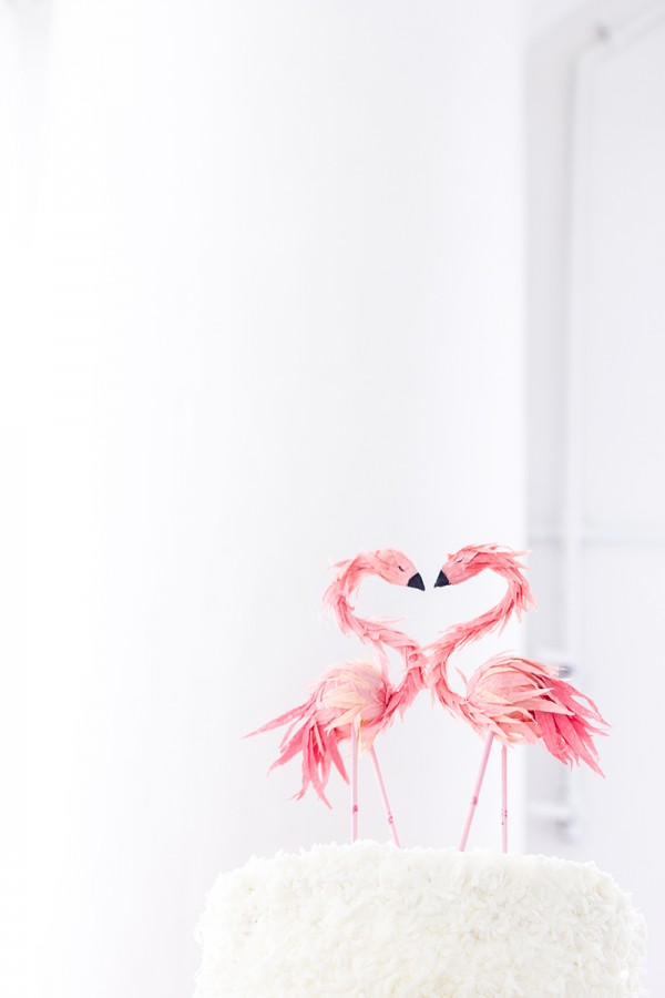 Picture Of whimsy and cheerful flamingo wedding theme ideas  13
