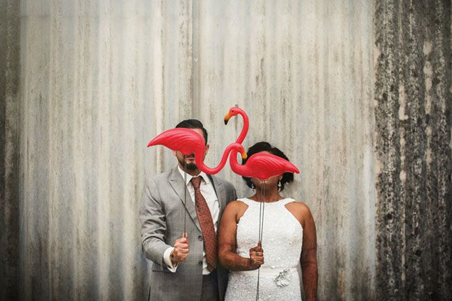 Picture Of whimsy and cheerful flamingo wedding theme ideas  16