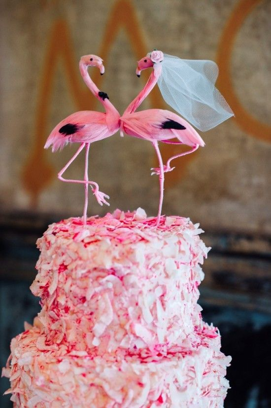 Picture Of whimsy and cheerful flamingo wedding theme ideas  17