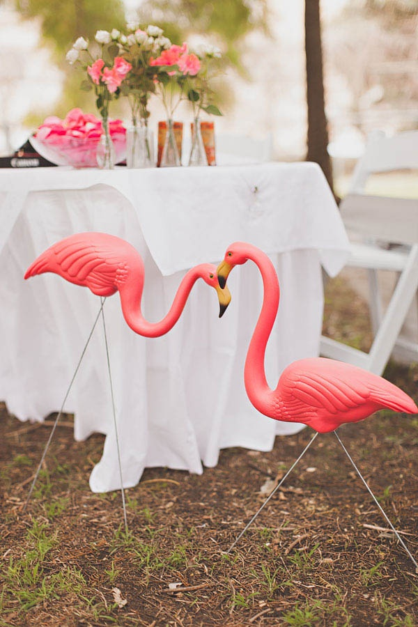 Picture Of whimsy and cheerful flamingo wedding theme ideas  26