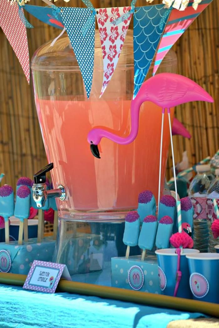 Picture Of whimsy and cheerful flamingo wedding theme ideas  28