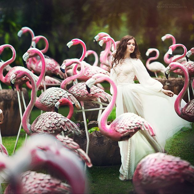 Picture Of whimsy and cheerful flamingo wedding theme ideas  29