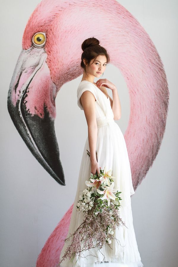 Picture Of whimsy and cheerful flamingo wedding theme ideas  3