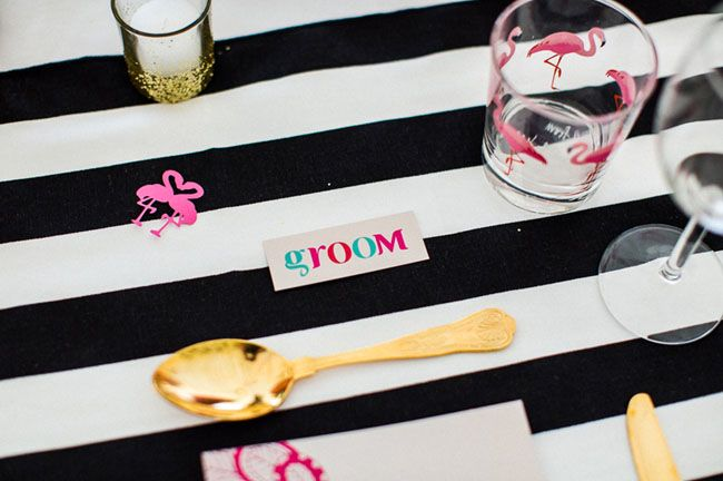 Picture Of whimsy and cheerful flamingo wedding theme ideas  7