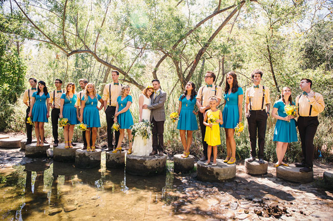 Picture Of whimsy california morning wedding in livley colors  12