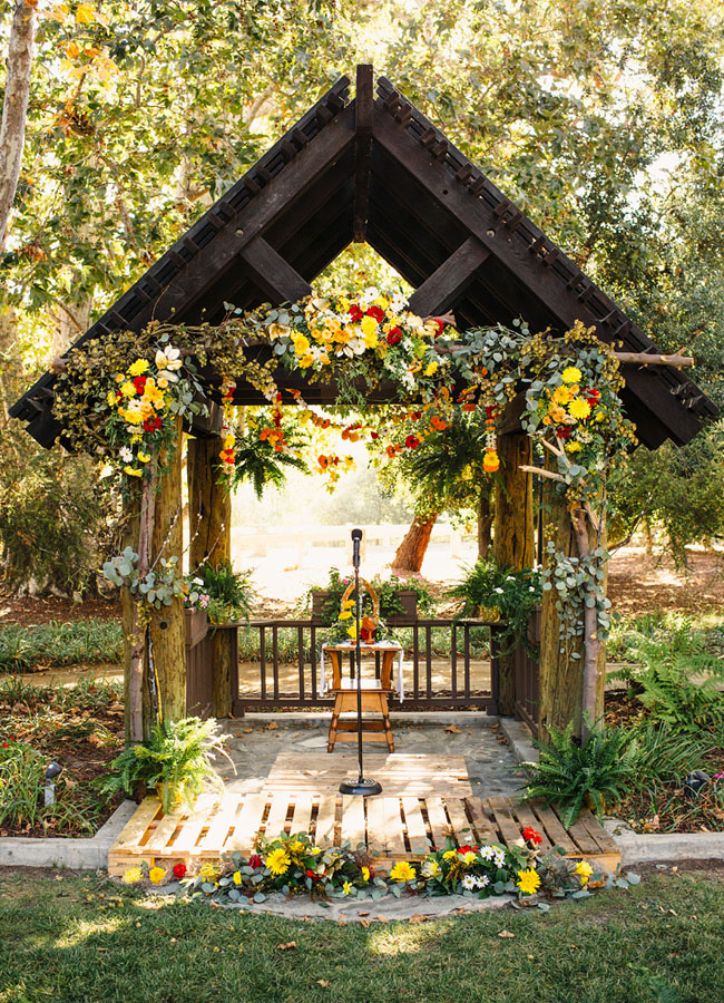 Picture Of whimsy california morning wedding in livley colors  14