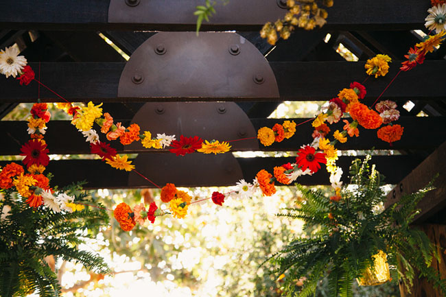 Picture Of whimsy california morning wedding in livley colors  15