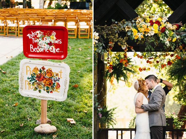 Picture Of whimsy california morning wedding in livley colors  18