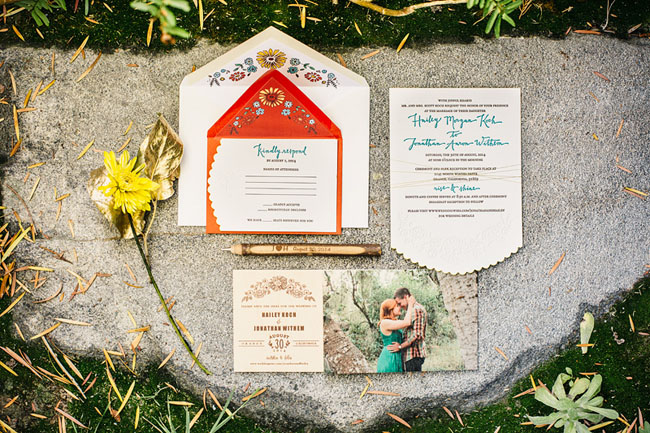 Picture Of whimsy california morning wedding in livley colors  2