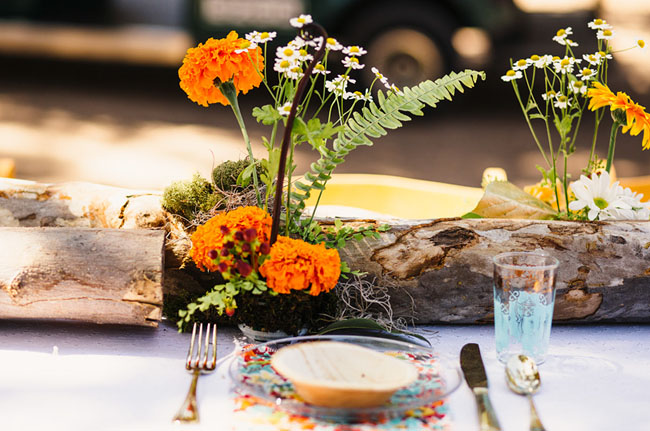 Picture Of whimsy california morning wedding in livley colors  24