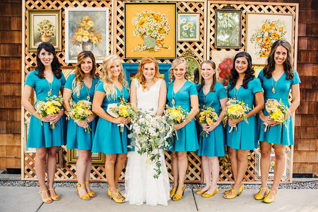 Picture Of whimsy california morning wedding in livley colors  4
