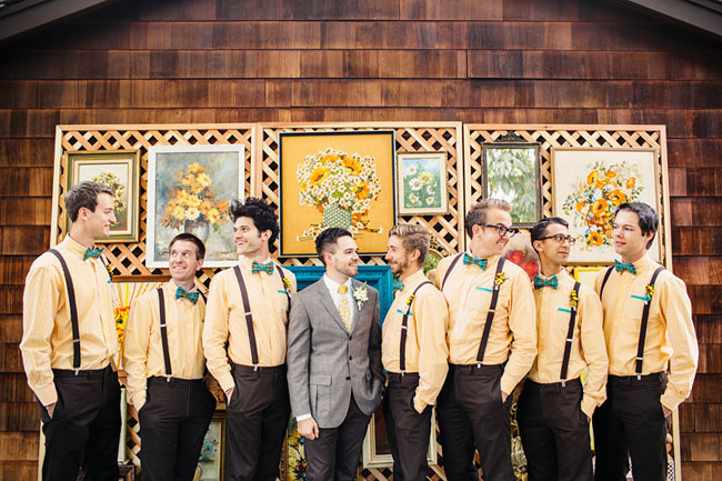 Picture Of whimsy california morning wedding in livley colors  6