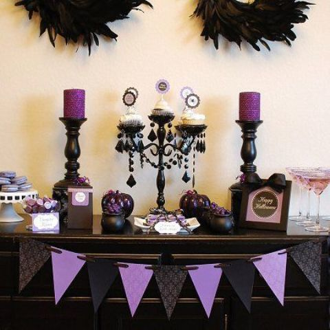 Picture Of Whimsy Halloween Bridal Shower Ideas