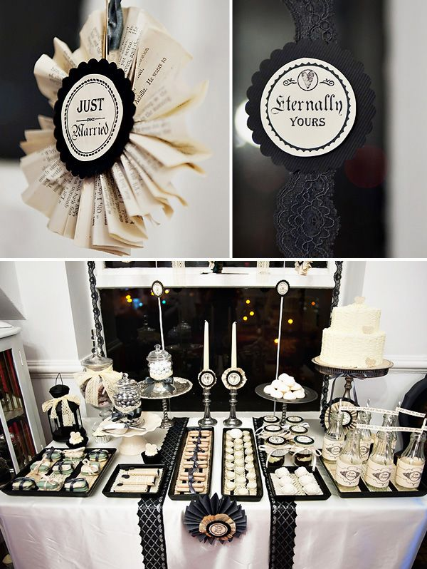picture of whimsy halloween bridal shower ideas. Black Bedroom Furniture Sets. Home Design Ideas
