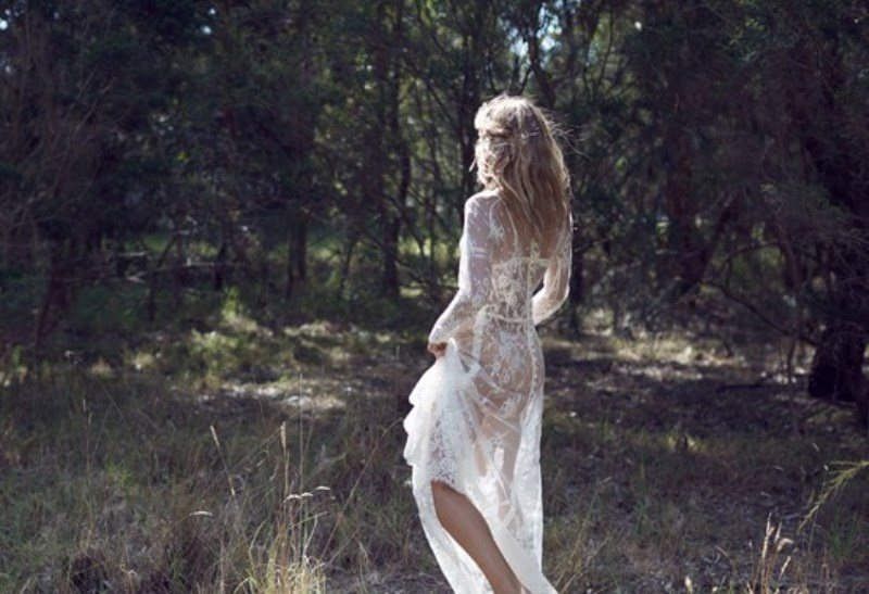 Picture Of wild love bohemian bridal shoot with stunning lace gowns  10