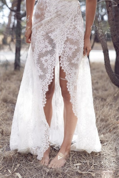 'Wild Love' Bohemian Bridal Shoot With Stunning Lace Gowns