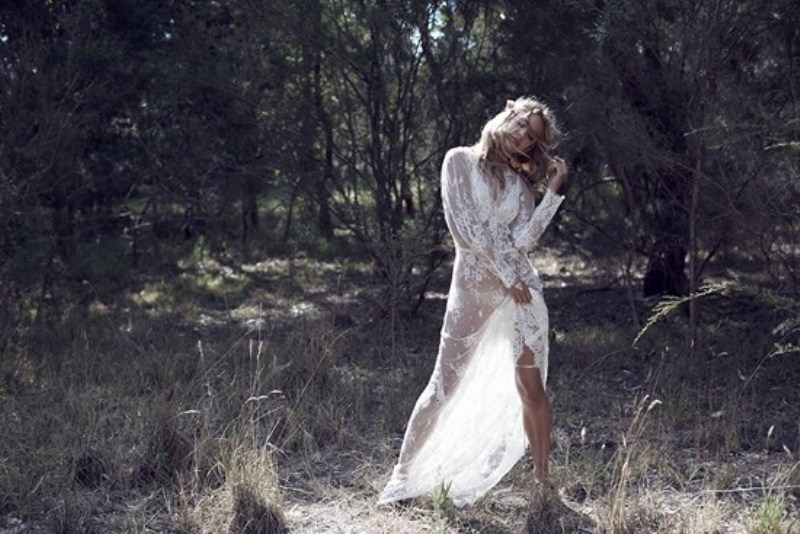Picture Of wild love bohemian bridal shoot with stunning lace gowns  9
