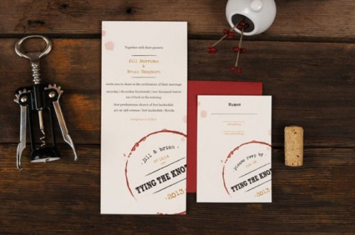 Wine Themed Wedding Invitations With A Vintage Touch Weddingomania