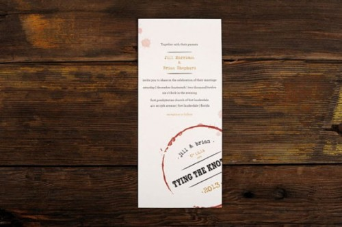 Wine Themed Wedding Invitations With A Vintage Touch - Weddingomania