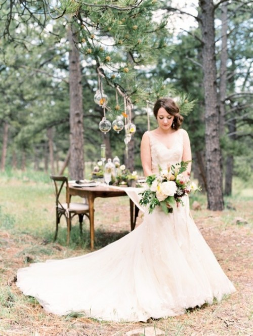 Woodland Rustic Elegance Wedding Inspiration