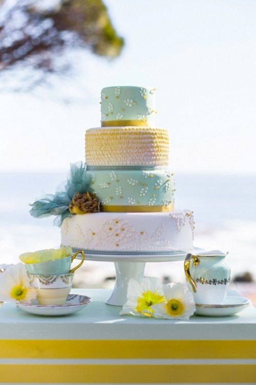 Yellow, Mint And Gold Wedding Inspirational Shoot