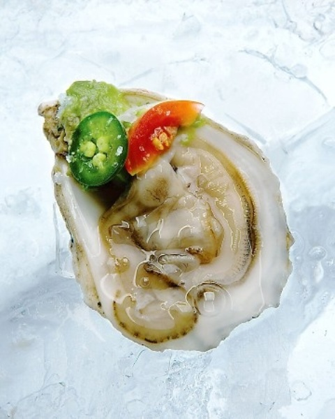 oysters with a bit of herbs and hot sauce are amazing for a seafood-loving wedding
