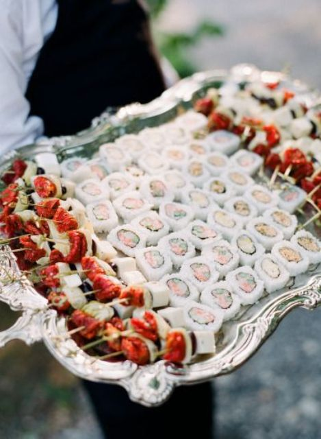 rolls and sushi are a nice idea for a couple who loves delicious Japanese food or just seafood
