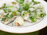 spring rolls with cucumbers, rice, leeks, fresh herbs are amazing for any kind of spring wedding and for many other weddings, too