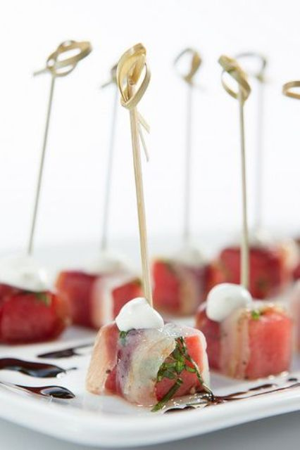 Yummy Spring Wedding Appetizers You'll Like