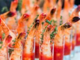 prawns in hot chili sauce and with herbs are always a good idea, whatever your wedding style is