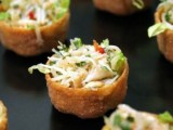 pastry cups with fresh veggie and herb salad are amazing for spring weddings and will do for summer ones, too